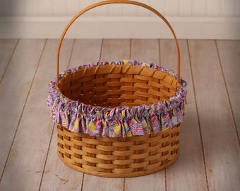 Easter Egg XL Basket Garter, Eggs on Lavender, Basket Accessories, Home Decor, Easter Decorating