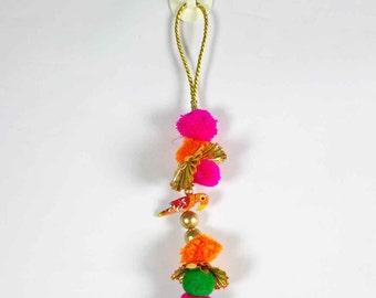 Camel Decoration Boho Tassel 1 Pair - Orange Hot Pink Gold Bohemian Tassel / Embellishment / Decoration / Women Dress Tassels