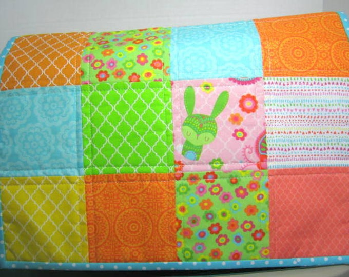 Green Bunny Quilted Sewing Machine Dust Cover