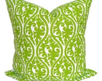 GREEN Pillow Sale, 14X14 inch Green Pillow Cover, Decorative Pillow, Green Throw Pillow,Damask Pillow,Green Pillow Cover. Green Cushion