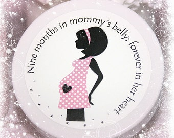 Baby Shower Favors - Baby Shower Favor - Unique Shower Favor - Whipped Body Butter Favors - Pregnancy Silhouette #1