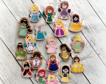 Princess hair clips Princess clip set Princess hair clip. set of 19 clips