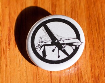 "No Drones 1.25"" Pinback Button"