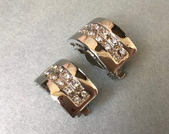 Pretty Clip On Earrings Set with Sparkling Rhinestones