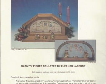 """Clearance-""""Traditional Nativity"""" & """"Cherubs"""" Counted Cross Stitch by The Dutch Touch"""