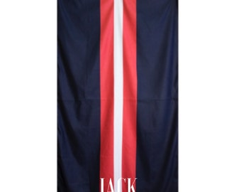 Navy and Red Striped Beach/Pool Towel