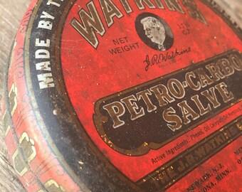 1940s Watkins Petro Salve Tin