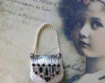 Lady fine historical  purse OOAK