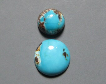 Dyer Blue Mine Natural Turquoise Cabochons from Nevada
