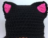 CUSTOM - Nasty Woman Hat + kids option - FREE SHIPPING - black hat - madonna-inspired pussycat hat - pussyhat - womens movement cap
