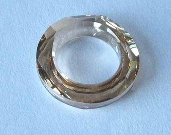 1 SWAROVSKI 4139 Cosmic Ring Crystal 20mm GOLDEN SHADOW