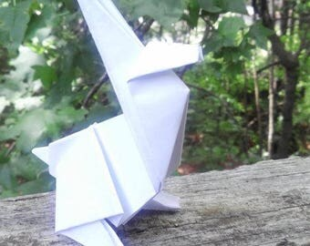Origami White Bunny Favor