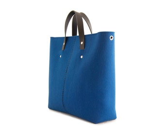 40% OFF - Wool felt HANDBAG / felt bag / felt women's bag / blue bag / blue handbag / made in Italy