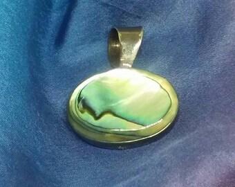 Abalone Sterling Silver Pendant Slide