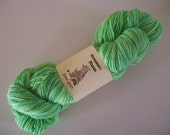 Eman Sock.  100gm  hand-dyed fingering weight green yarn.  OOAK- Lime