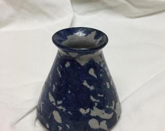 spongeware inkwell Bastine Pottery Noblesville Indiana 1989