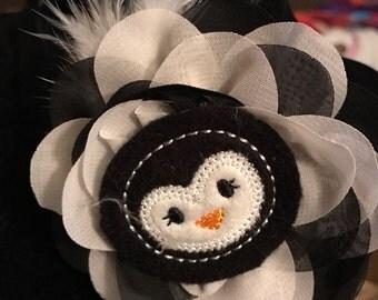 Headband with Penguin Feltie Image