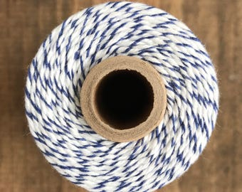 Navy and White Stripe Baker's Twine, Divine Twine, Gift Wrapping