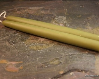 Hand Dipped Bayberry Wax Tapers - 8 inch joined pair