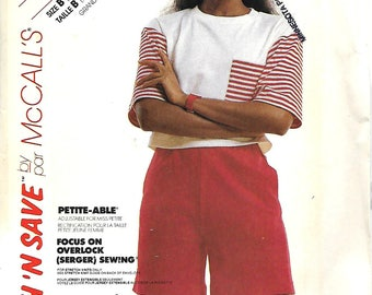 Stitch 'N Save 4220 Easy Misses Stretch Knit Top And Shorts Pattern, Size 14-20, UNCUT