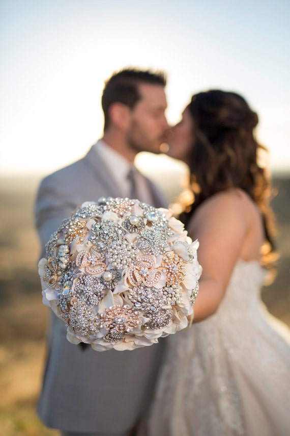 Ready to Ship Custom Petal Brooch Bouquet