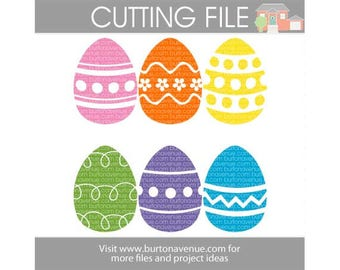 Easter Eggs cut file for Cricut, Silhouette, Instant Download (eps, svg, gsd, dxf, ai, jpg, and png)
