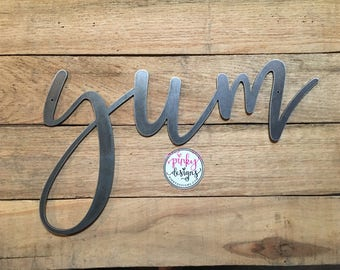 Awesome Yum Metal Sign | 14 INCH | Yum Sign | Kitchen Decor | Dining Room Decor