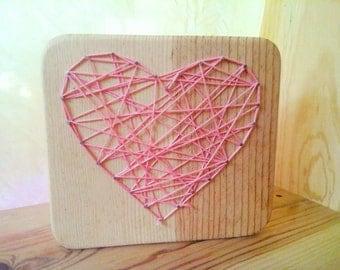 String Heart / String Art kit/  St. Valentine's day handcraft/ Valentine's day Decor