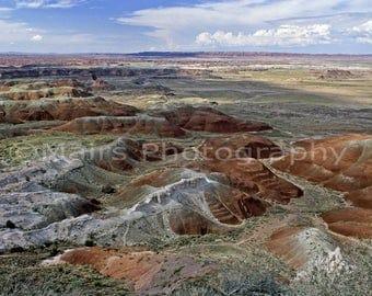 Arizona Landscape Red White Sandstone Nature, Painted Desert Travel Photography, Fine Art Photography matted & signed Original Photograph