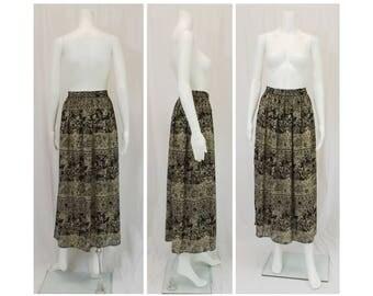 CASUAL CORNER Neutral Print Skirt Size Large L