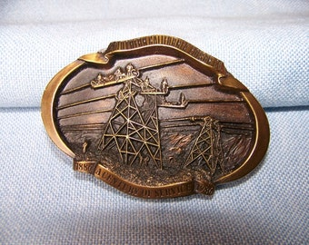 REDUCED Vintage Southern California Edison Co Centennial  Commemorative Belt Buckle Limited Edition #37