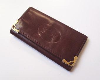 Vintage french key ring CARTIER, Leather, 1960-1970, France, Paris, Luxe, Fashion, Porte-clé