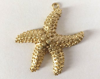 Starfish Pendant - Gold Plated - 40mm