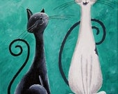Portrait of two cats in the Fantasy Cats style