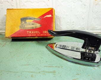 Vintage Regent Travel Iron with Folding Handle Made in Japan