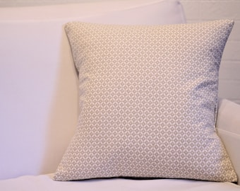 "17x17"" Tan and Ivory Pillow Sham"