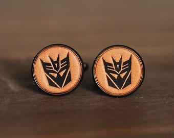 Vintage Style cufflinks - Personalized Transformer Cufflinks - Decepticons Cufflinks with a gift box