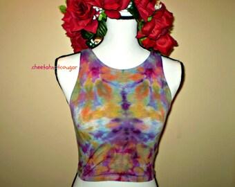 Tie Dye Crop Shirt Kaleidoscope