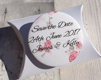 Country Rose Fridge Magnet Save the Date