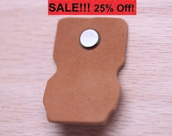 Handcrafted in USA: Caramel Light Brown All leather drawer / cabinet pulls With Hardware!
