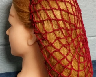 Net Pattern Cotton Hair Snood in Standard Length