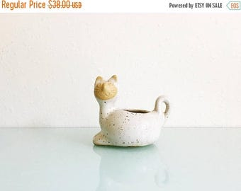 ON SALE Mid Century David Stewart Lions Valley Stoneware Cat Planter
