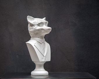 Fox Bust // Modern sculpture // Mr Fox inspired // Animal head //  Woodland art statue // Free Shipping Worldwide