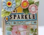SPARKLE, mosaic, pique assiette, mosaic art