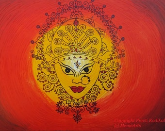 Large handpainted art on a HUGE 3x4 feet canvas for living room, family room, restaurant or business Traditional Powerful Symbol of Strength