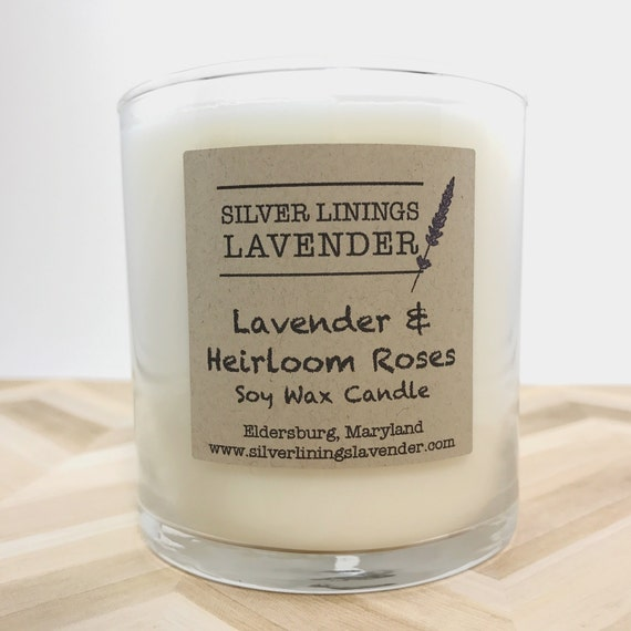 Lavender & Hierloom Roses Soy Wax Candle