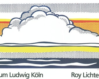 Roy Lichtenstein-Cloud And Sea-1989 Serigraph