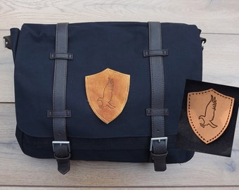 Ravenclaw Messenger bag Harry Potter satchel canvas undyed