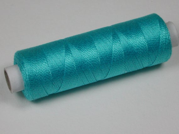 4007 Color Turquoise, Venne mohair, wool, cotton 34/2, knitting and crochet yarn for the miniature hand work