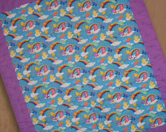 Happy Care Bears and Rainbows Boy or Girl Quilt